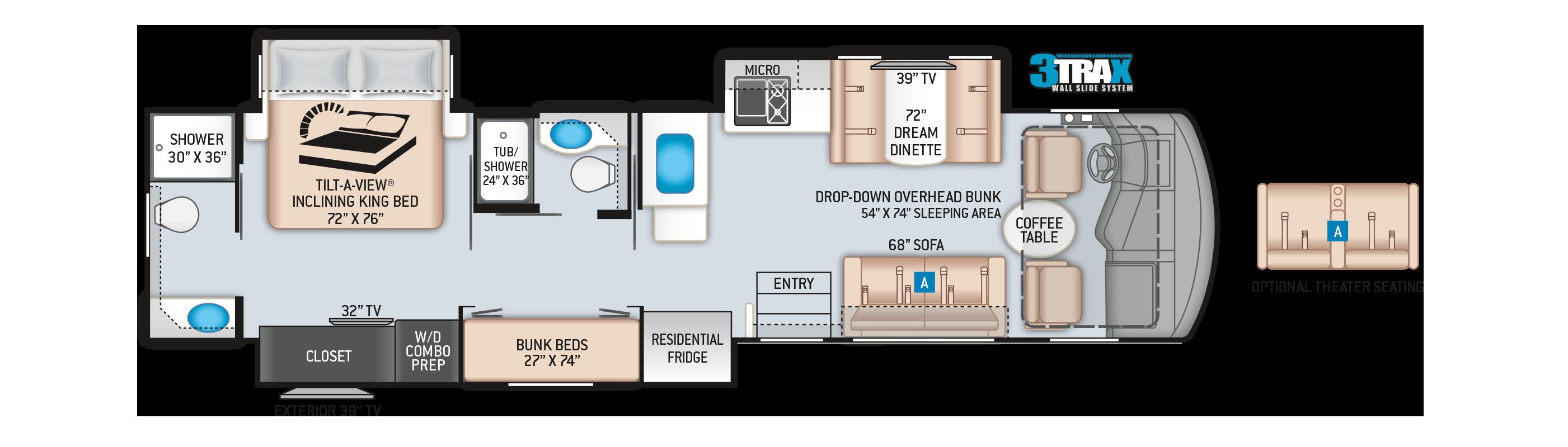 Challenger Class A Motorhome 37DS Floor Plan