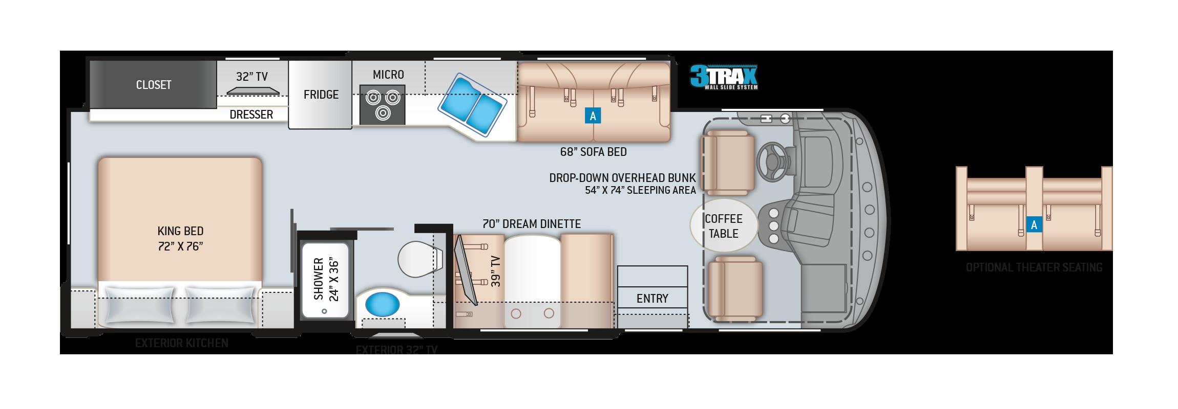 Windsport Class A Motorhome 29M Floor Plan