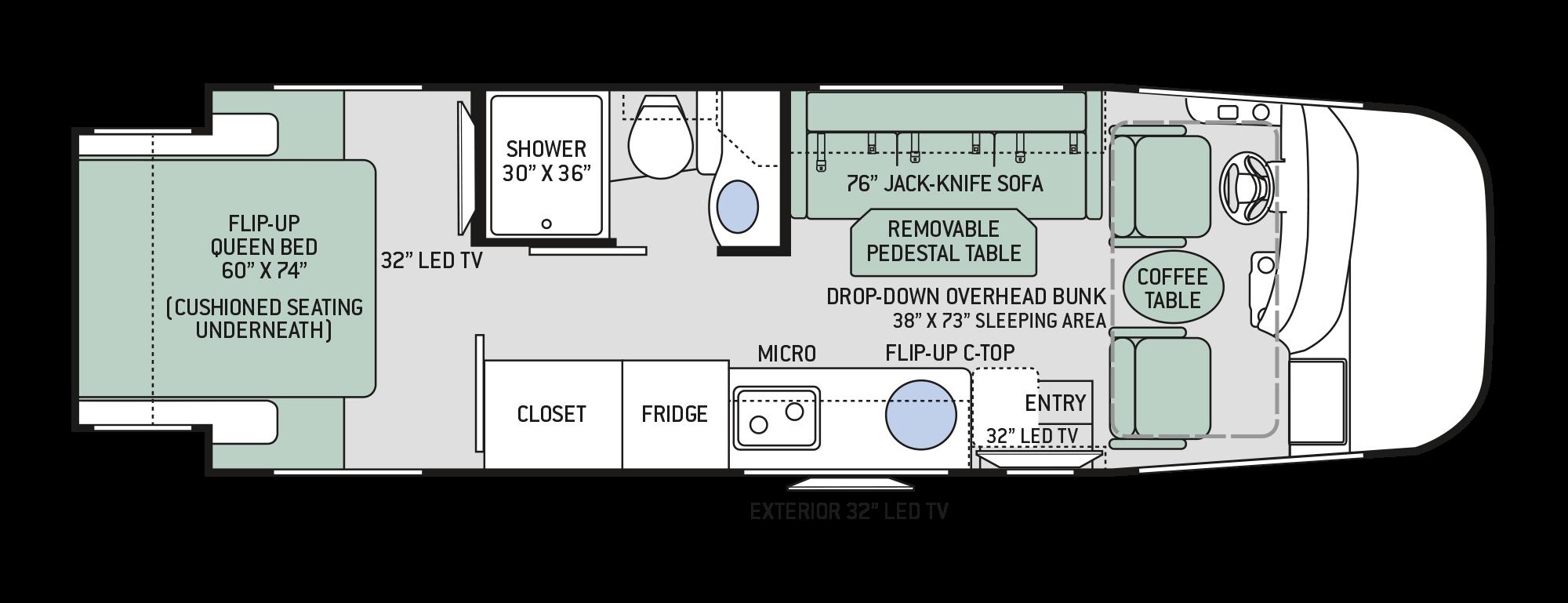 Floor plans axis 25 2 for 2018 thor motor coach axis 25 3