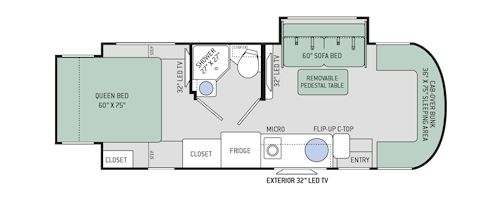 Citation Sprinter Cl C Motorhomes Floor Plans Thor Motor Coach