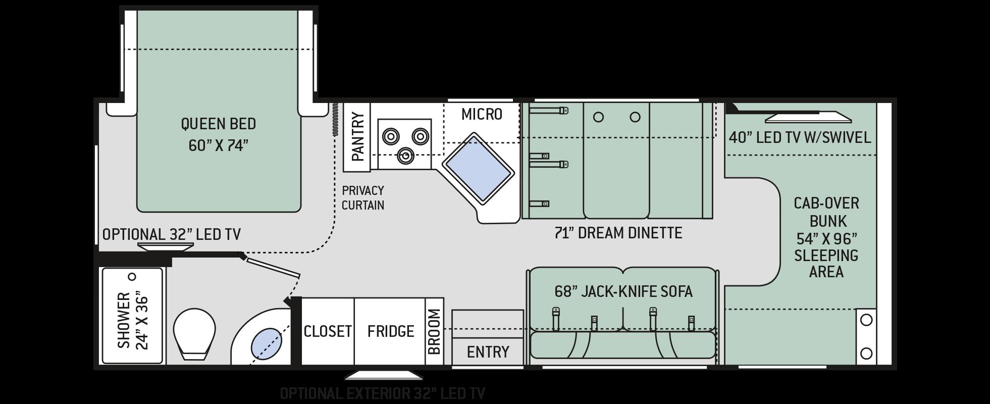 Four Winds Class C Motorhomes Floor Plan 26b Thor