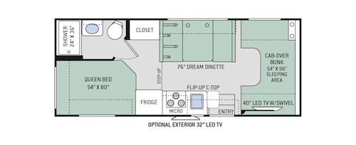 Motorhome floor plans class c carpet review for Motor home plans