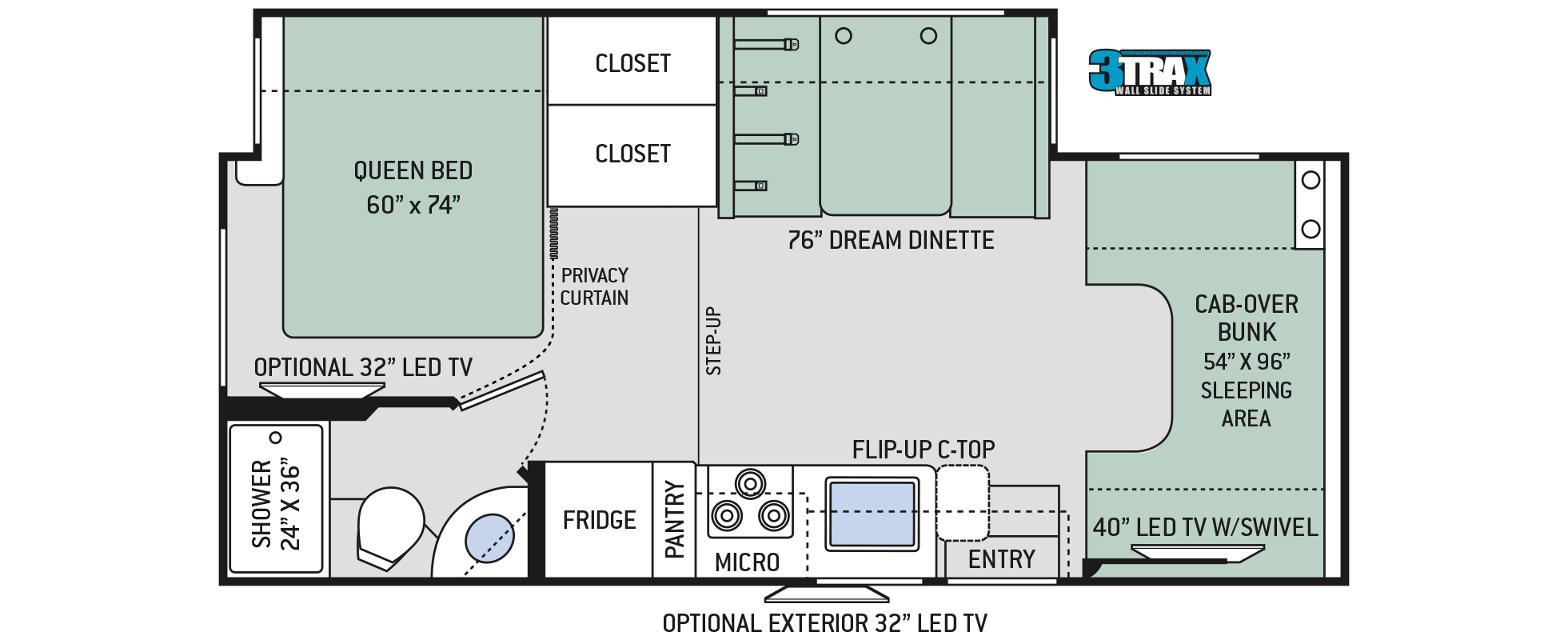 Motorhome floor plans class c carpet review for Motorhome plans