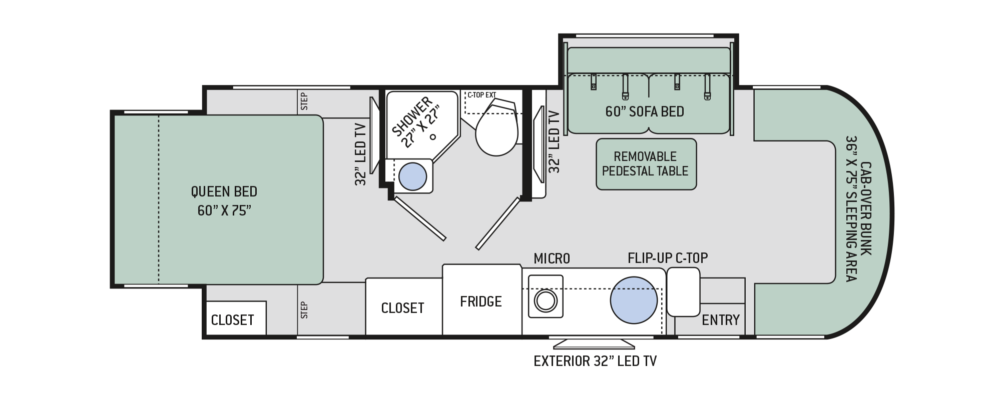 2018 Synergy SP24 Floor Plan