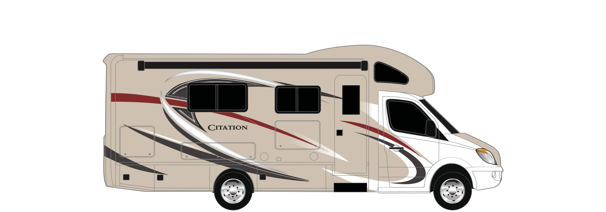 Citation sprinter class c motorhomes color options for Thor motor coach citation sprinter