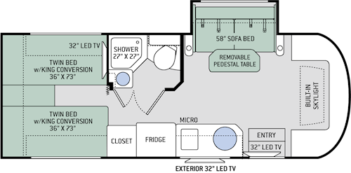 Sprinter Motorhome Floor Plans Thefloors Co