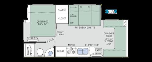 Freedom Elite Class C Motorhomes - Floor Plans   Thor Motor Coach