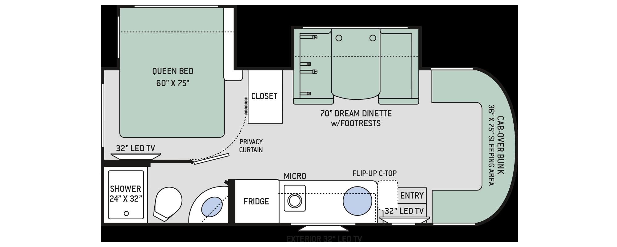 Floor Plan Siesta Sprinter 24ss