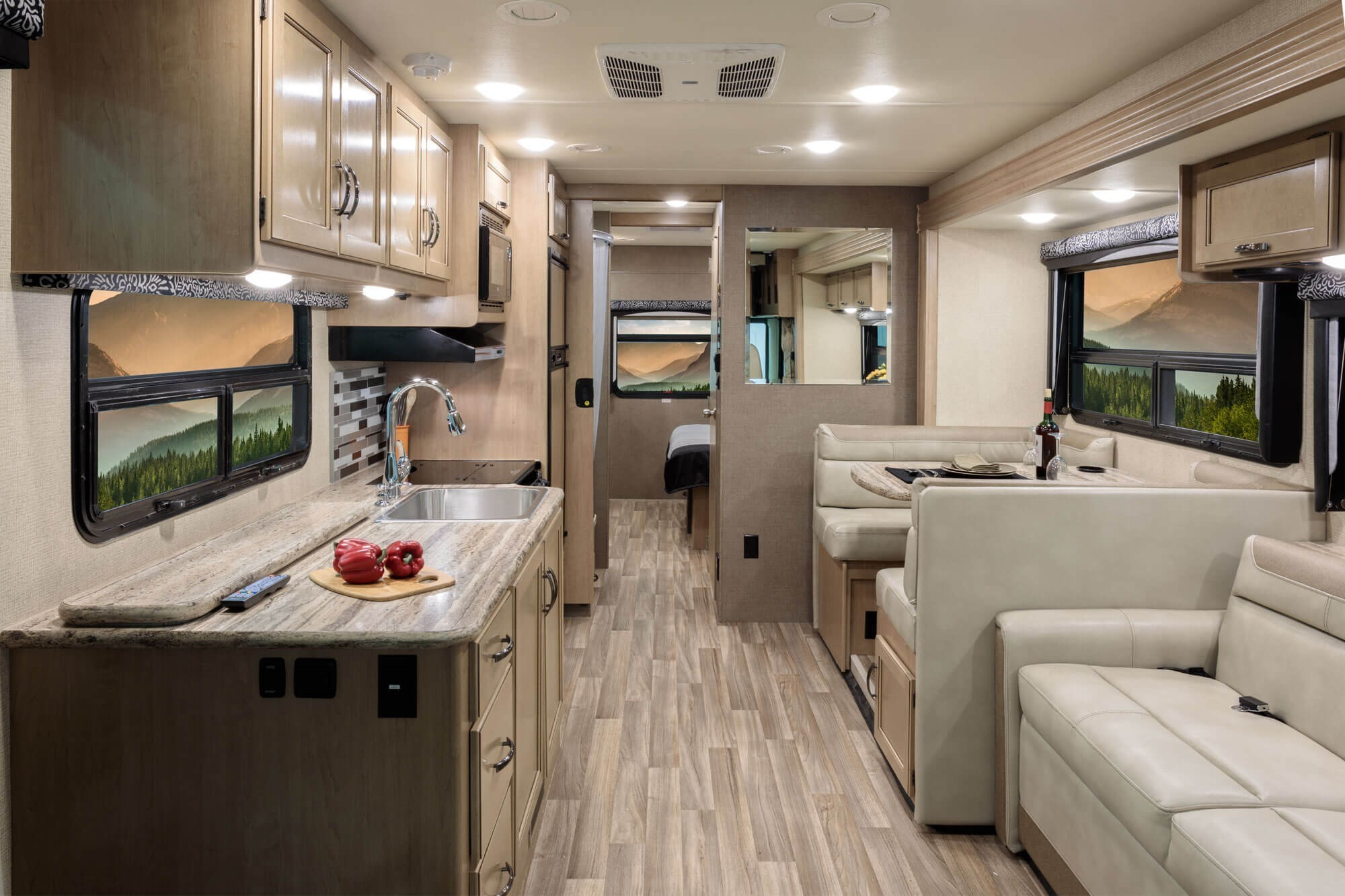 Class C Motor Home With Back Kitchen